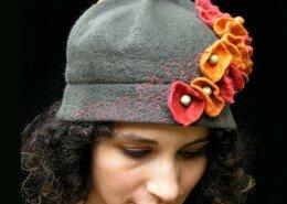 Wendy Allen, Fiber Artist and Fashion Designer creates hand felted merino wool hats, scarves, mittens and accessories out of MissFitt Studio in Durham, NC.