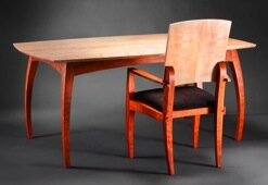 Bayley Wharton, woodworker in NC, designs and builds fine, handmade, furniture with naturally finished Curly Maple, Cherry, Walnut or Ebony hardwoods.