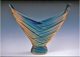 Doug Dacey, Porcelain Artist in Columbus, NC, creates a unique line of fine sculptural and functional porcelain inspired by colors and patters from nature.