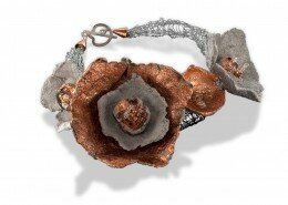 Nancy Raasch, Jeweler based in NC - designs bracelets, earrings and necklaces using a variety of papers and media that result in unexpected creative wear.