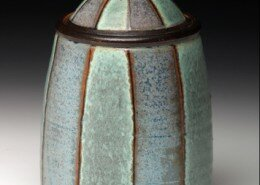 Evelyn Ward, Potter, creates wheel thrown, salt or soda fired functional stoneware pottery with beauty of surface and form out of her NC studio.