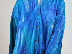 Michael Kane fiber artist and fashion designer in Asheville, NC creates handcrafted gorgeous textiles: dyed, discharged, airbrushed on a variety of pure silks using the ancient Japanese techniques of Shibori.