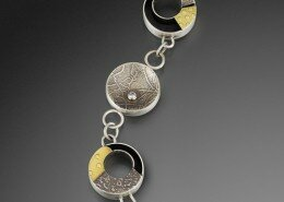 Bonnie Blandford Jeweler makes elegant, understated pieces using sterling silver and high karat gold for contrast, textures, movement and stillness.