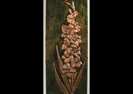 Linda Slone Mixed Media Artist in Rock Hill, SC captures intricate patterns of nature with repousse on copper and a patina solutions for oxidation color.