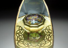Marc Tickle, Glass Artist in Asheville, designs and creates sculpturally appealing kaleidoscopes revealing harmonic balance of shape, color and form inside.