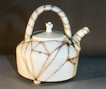 Conrad Weiser, Potter in Durham, NC, makes one-of-a-kind stoneware and porcelain ceramic teapots, lidded bowls and urns along with Raku ware pieces.
