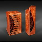 Ron Lentz, Woodworker in VA creates jewelry and valet boxes and humidors from wood with exceptional color and grain, hand finished to a high luster.