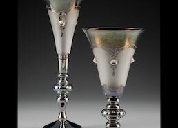 Glass artist Minh Martin creates glass stemware, vessels and cameo out of his Romeo Glass Studio in Charlottesville, VA
